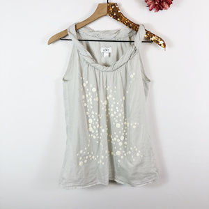 [LOFT ANN TAYLOR] Rolled Neckline Sequin Top